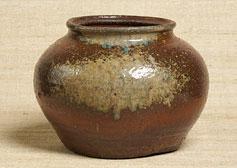 水指 赤土部釉灰被壺 丹波 江戸時代 17世紀