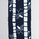 藍木綿地竹文紋裂