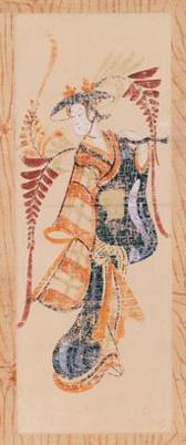 大津絵 藤娘 18世紀 縦62cm (後期展示)