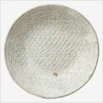 白釉押紋手鉢
