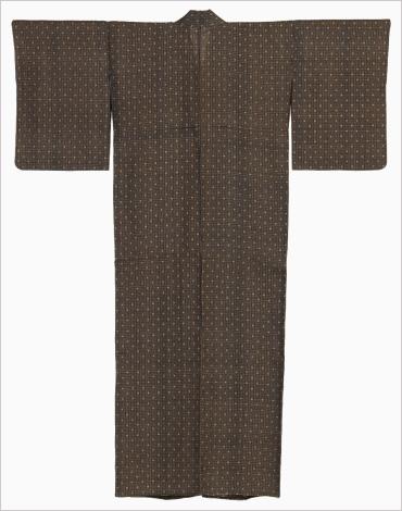 平良敏子(1921-) 藍染綿入り芭蕉布着物